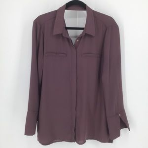 DYNAMITE / Full Sleeve Button Down Blouse